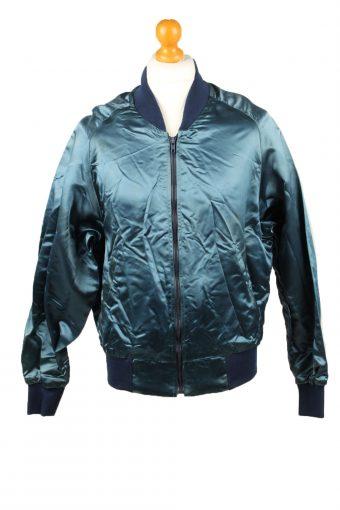 Vintage The Jacket Factory Satin Baseball Jacket Dark Blue