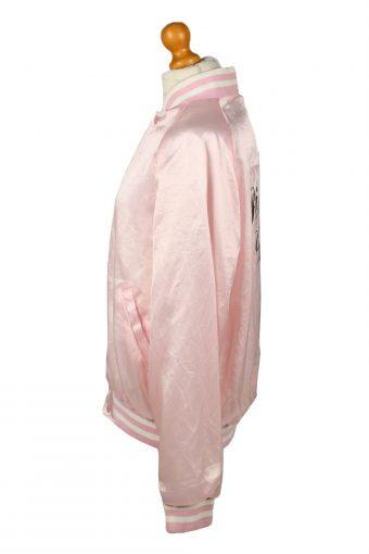 Vintage Satin Baseball Jacket Pink -C1969-143632