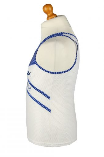 Vintage Puma Running Sports Jersey Shirt USC Bochum S White CW0820-143191