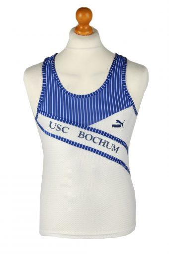 Puma Running Sports Jersey Shirt USC Bochum White S