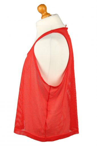 Vintage Puma Running Sports Jersey Net Shirt Logo XL Red CW0823-143203