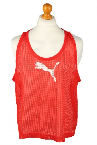 Puma Running Sports Jersey Net Shirt Logo Red XL