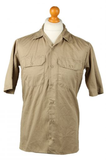 Dickies Work Shirt Workwear Button Up Short Sleeve Camel XL