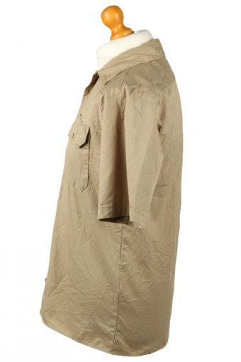 Vintage Dickies Work Shirt Workwear Button Up Short Sleeve XL Camel SH4003-143308