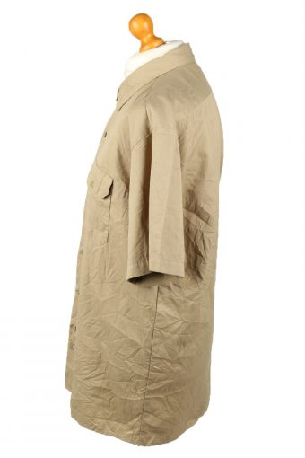 Vintage Dickies Work Shirt Workwear Button Up Short Sleeve XL Camel SH4004-143312