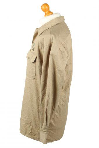 Vintage Dickies Work Shirt Workwear Button Up Long Sleeve L Camel SH4005-143316