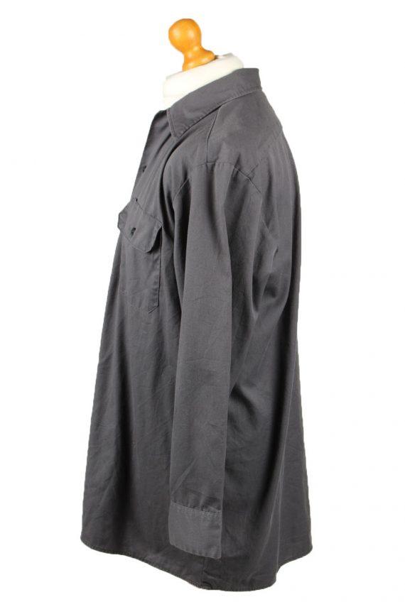 Vintage Dickies Work Shirt Workwear Button Up Long Sleeve L Dark Grey SH4011-143340