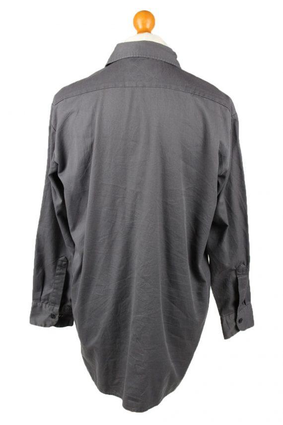 Vintage Dickies Work Shirt Workwear Button Up Long Sleeve L Dark Grey SH4011-143341
