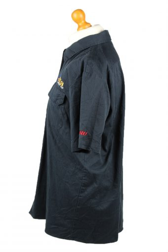 Vintage Dickies Work Shirt Workwear Button Up Short Sleeve L Navy SH4012-143344