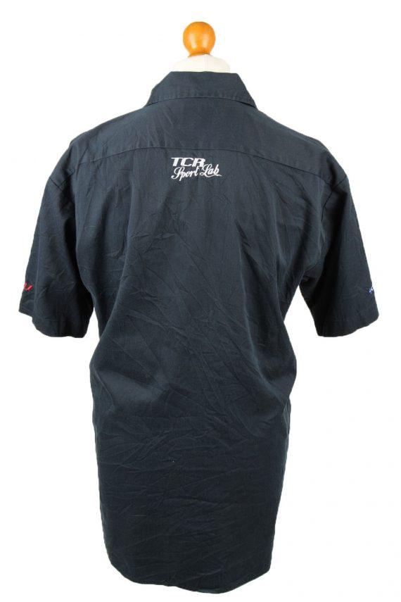 Vintage Dickies Work Shirt Workwear Button Up Short Sleeve L Navy SH4012-143345