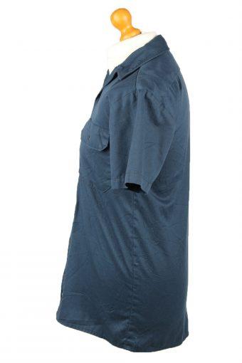 Vintage Dickies Work Shirt Workwear Button Up Short Sleeve S Dark Blue SH4015-143356