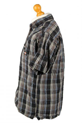 Vintage Dickies Work Shirt Workwear Button Up Check Short Sleeve M Multi SH4019-143372