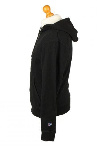 Vintage Champion Zip Up Hoodie Unisex S Black -SW2620-143648