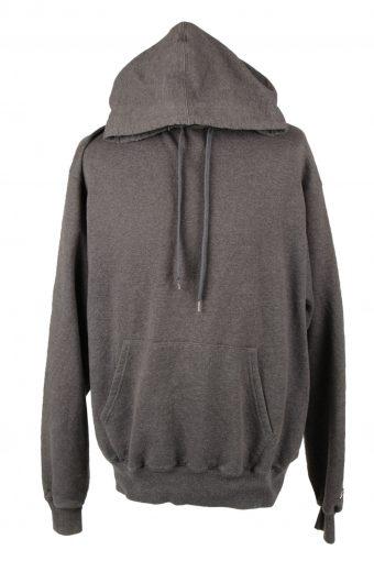 Champion Hoodie Sweatshirt 90s Retro Grey L