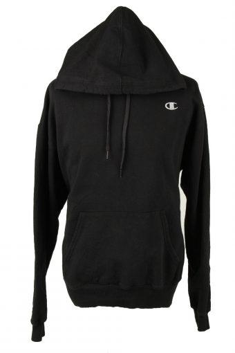 Champion Hoodie Sweatshirt 90s Retro Black XL