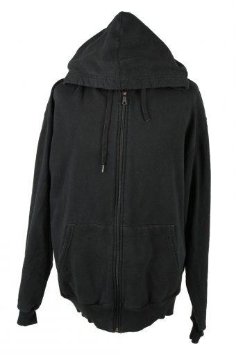 Champion Zip Up Hoodie 90s Black XL