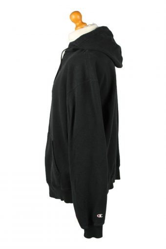 Vintage Champion Zip Up Hoodie Unisex XL Black -SW2634-143704