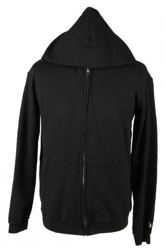 Champion Zip Up Hoodie Sweatshirt 90s Black XL