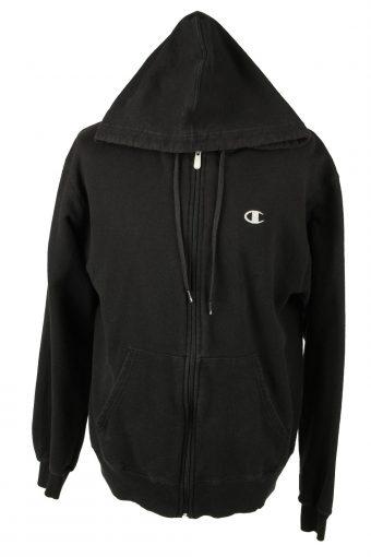 Champion Hoodie Sweatshirt Black L