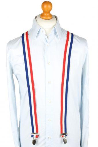 Vintage Adjustable Elastic Braces Suspenders 90s Multi