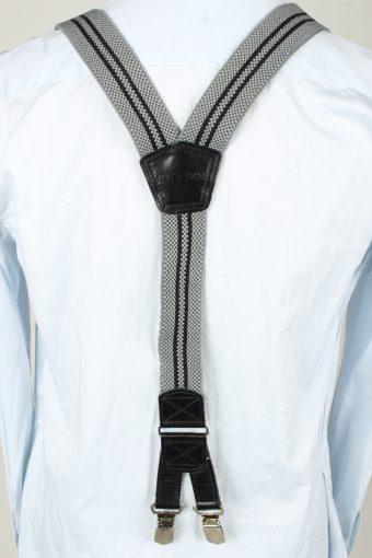 Vintage Adjustable Elastic Braces Suspenders 90s Grey BS007-143845