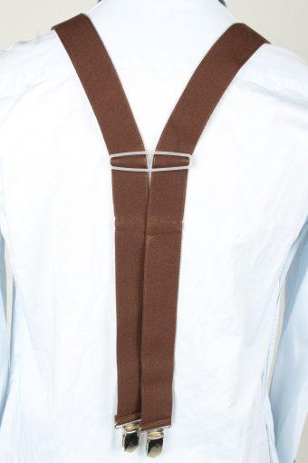 Vintage Adjustable Elastic Braces Suspenders 90s Brown BS008-143848