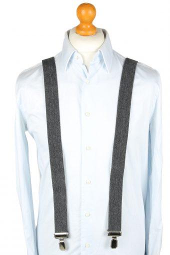 Vintage Adjustable Elastic Braces Suspenders 90s Grey