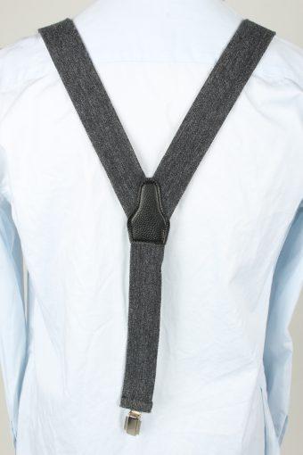 Vintage Adjustable Elastic Braces Suspenders 90s Grey BS009-143851