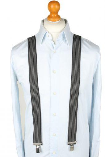Vintage Adjustable Elastic Braces Suspenders 80s Grey