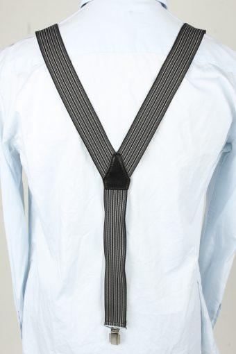 Vintage Adjustable Elastic Braces Suspenders 80s Grey BS010-143854