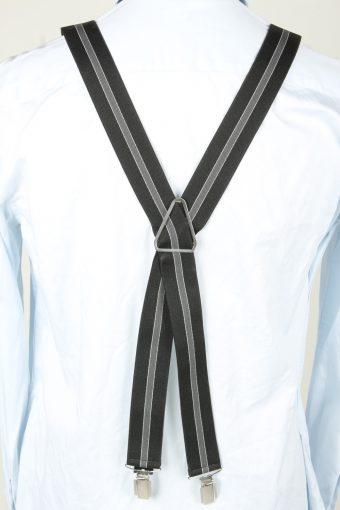 Vintage Adjustable Elastic Braces Suspenders 80s Black BS011-143857