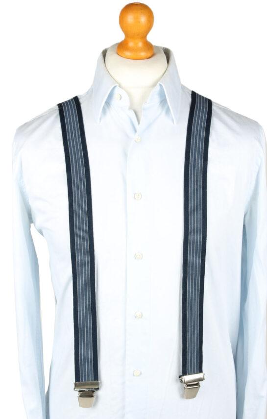 Vintage Adjustable Elastic Braces Suspenders 80s Navy BS015-0