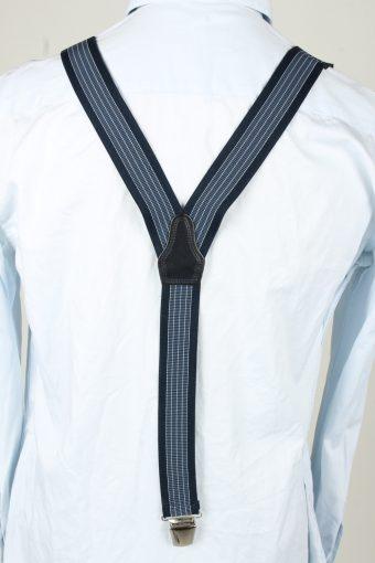 Vintage Adjustable Elastic Braces Suspenders 80s Navy BS015-143869