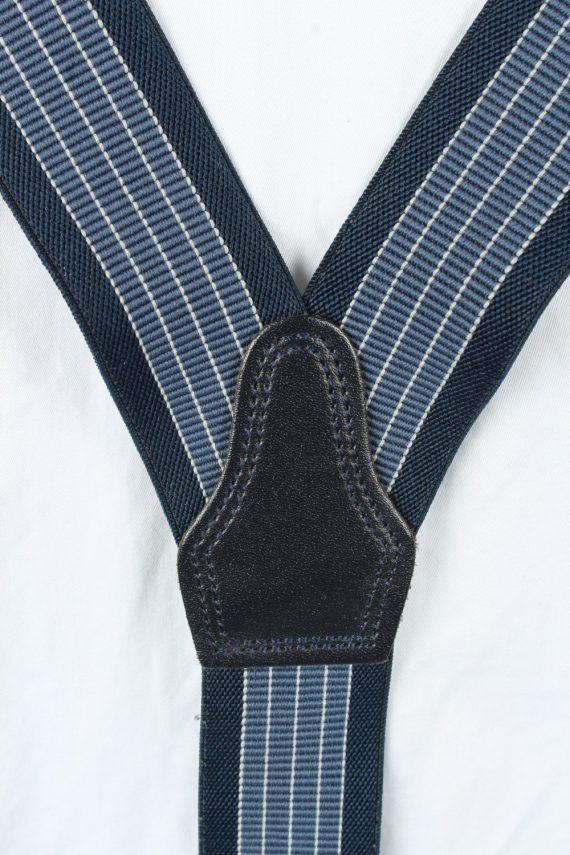 Vintage Adjustable Elastic Braces Suspenders 80s Navy BS015-143870