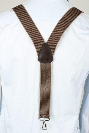 Vintage Adjustable Elastic Braces Suspenders 70s Brown BS016-143872