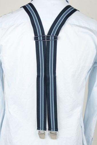 Vintage Adjustable Elastic Braces Suspenders 80s Navy BS018-143878