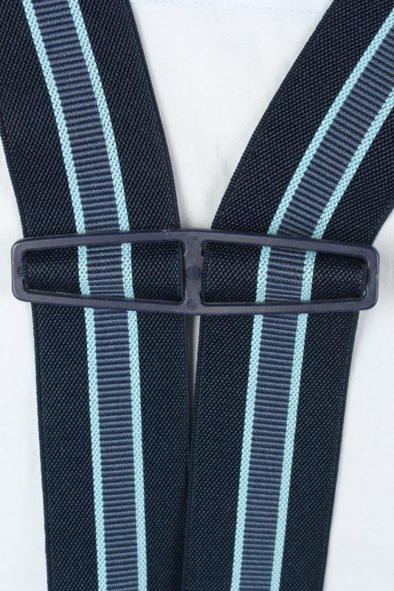Vintage Adjustable Elastic Braces Suspenders 80s Navy BS018-143879