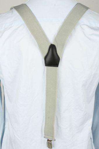 Vintage Adjustable Elastic Braces Suspenders 80s Light Grey BS019-143881