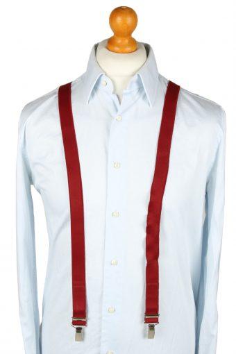 Vintage Adjustable Elastic Braces Suspenders 80s Bordeaux