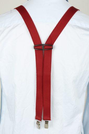 Vintage Adjustable Elastic Braces Suspenders 80s Bordeaux BS021-143887