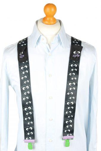Vintage Adjustable Elastic Braces Suspenders 90s Black