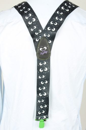 Vintage Adjustable Elastic Braces Suspenders 90s Black BS028-143908