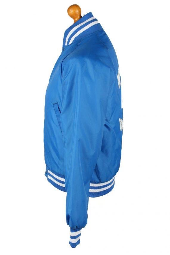 Vintage Westark Mens Satin Baseball Bomber Jacket M Blue -C1984-144688