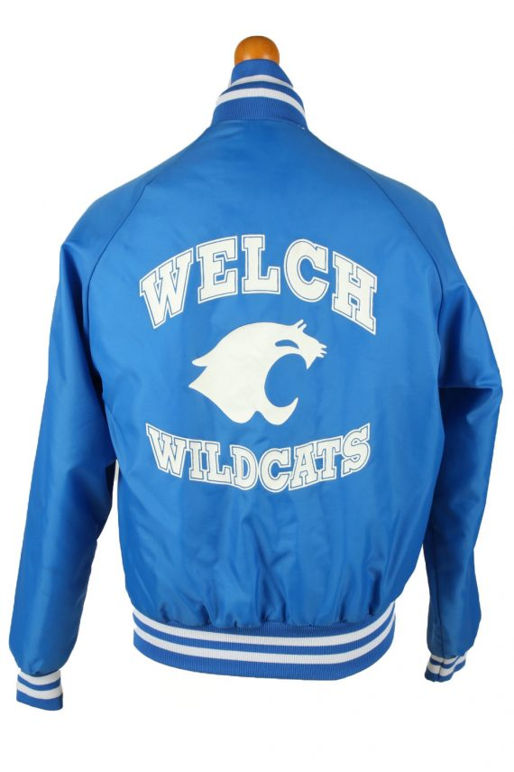 Vintage Westark Mens Satin Baseball Bomber Jacket M Blue -C1984-144689