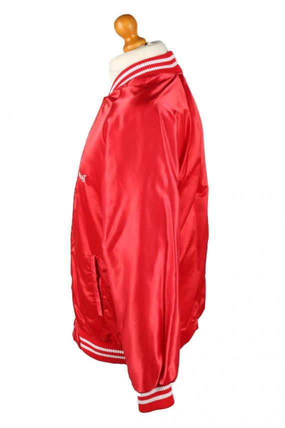 Vintage Smirnoff Mens Satin Baseball Bomber Jacket L Red -C1992-144720