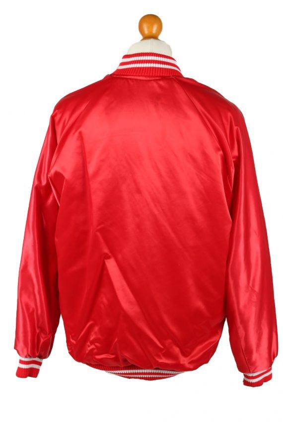 Vintage Smirnoff Mens Satin Baseball Bomber Jacket L Red -C1992-144721