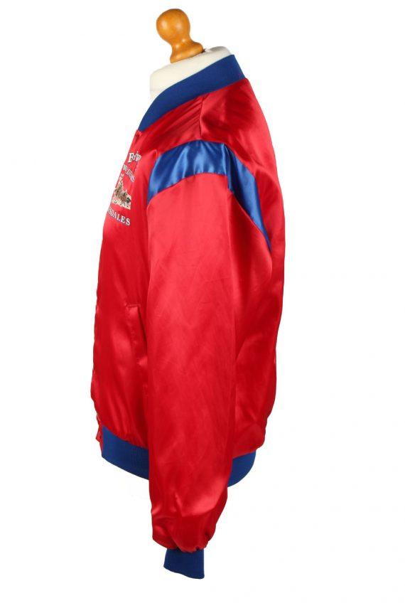 Vintage Budweiser Mens Satin Baseball Bomber Jacket Red -C1996-144736