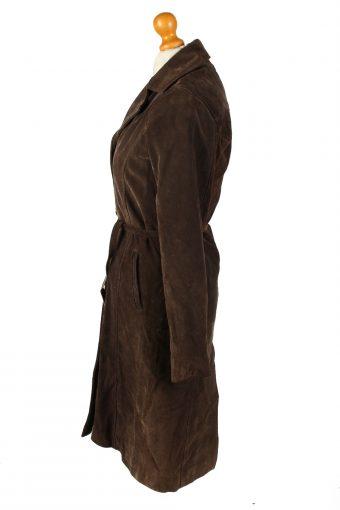 Vintage Womens Collezione Suede Jacket Coat L Dark Brown -C2004-144768