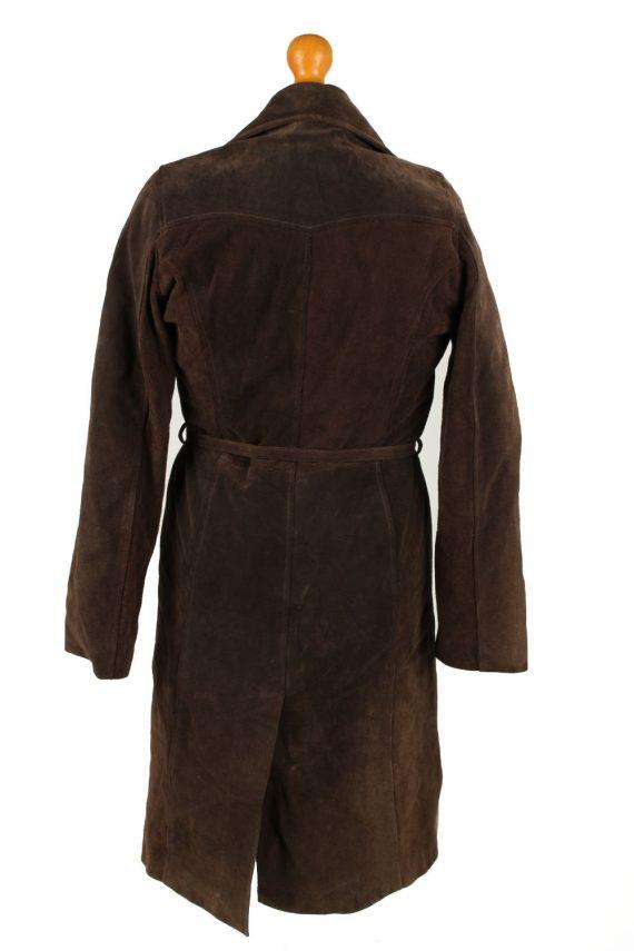 Vintage Womens Collezione Suede Jacket Coat L Dark Brown -C2004-144769