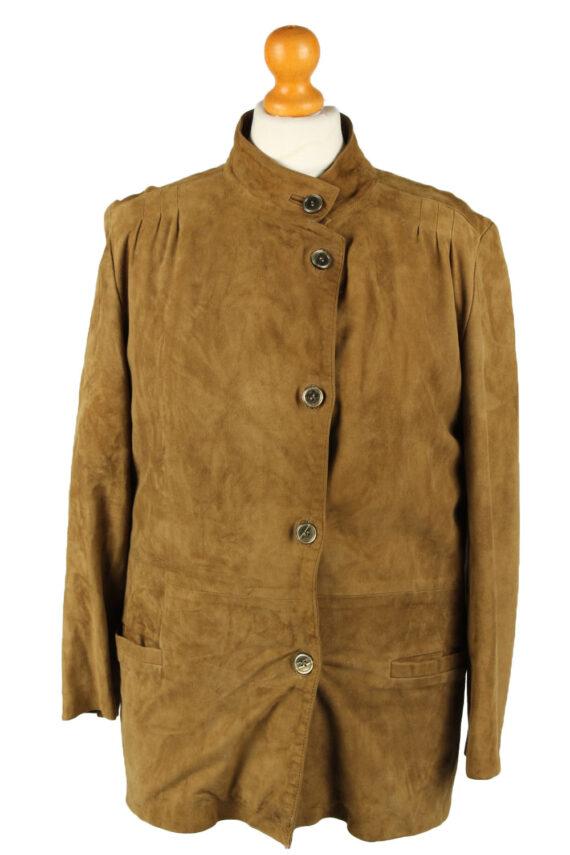 Vintage Womens Suede Jacket Coat 42 Brown -C2006-0